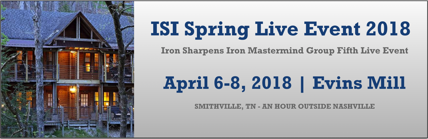 ISI Live Event 2018 Spring