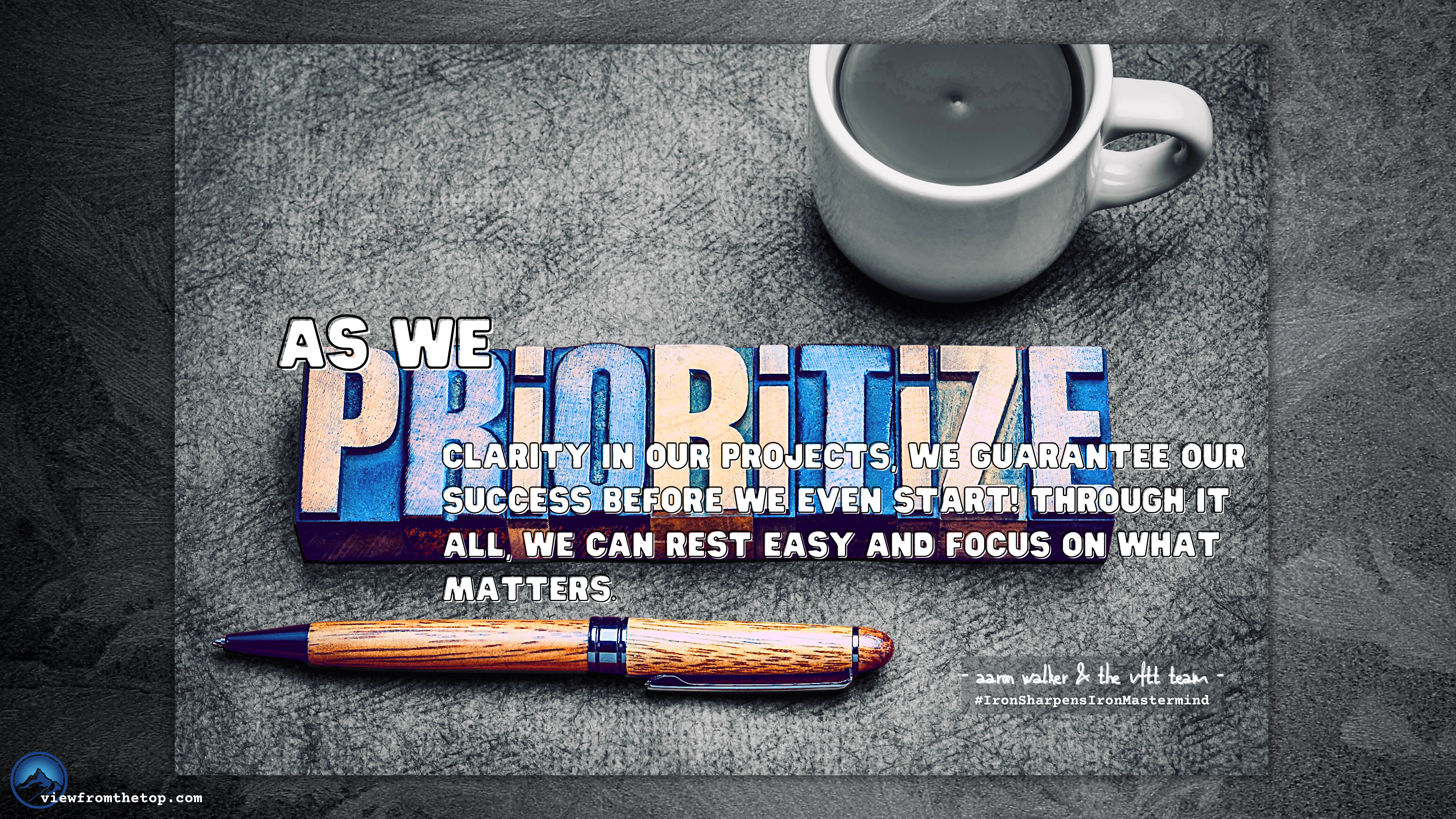 As we prioritize clarity in our projects, we guarantee our success before we even start!