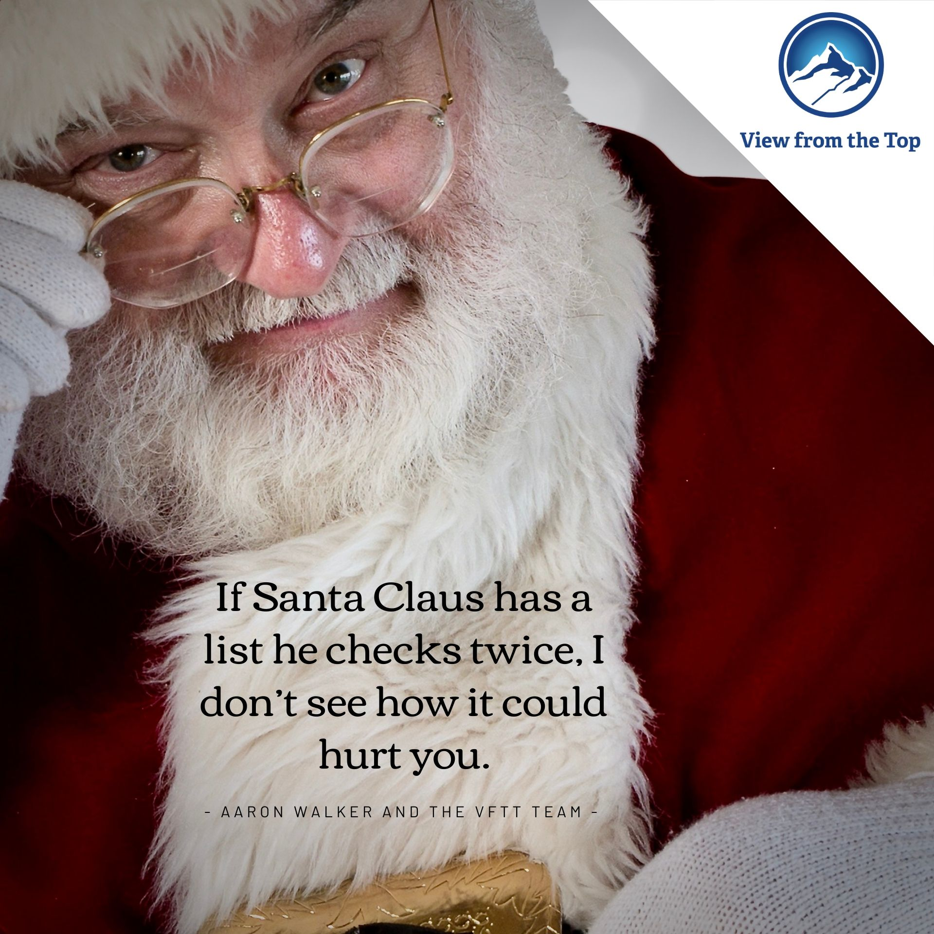 If Santa Claus has a list he checks twice, I don't see how it could hurt you.